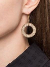 Jil Sander crystal-embellished hoop pendant earrings – sparkly statement hoops – crystals – jewellery