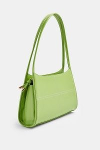 TOPSHOP Green Top Stitch Scoop Shoulder Bag / colour pop bags / colourful accessories