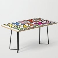 Homage to Keith Haring Acrobats II Coffee Table by vintage hub – style out your home