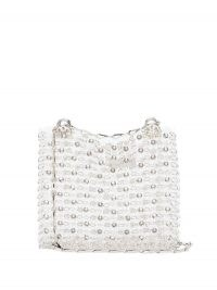 PACO RABANNE Iconic 1969 crystal-embellished chainmail bag ~ silver bags
