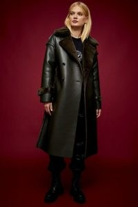 IDOL Khaki Reversible Faux Fur Coat ~ topshop coats