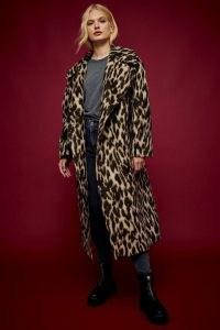 IDOL Leopard Print Maxi Coat ~ glamorous animal prints ~ topshop winter coats