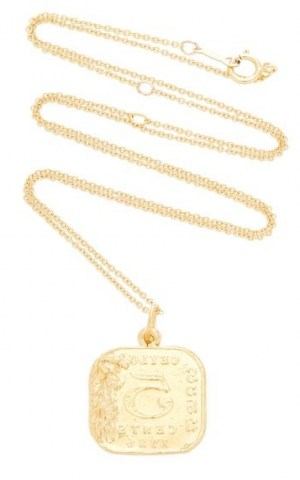 Alighieri Infernal Storm 24K Gold-Plated Pendant – ancient style jewellery – coin effect pendants - flipped