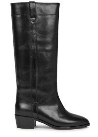 ISABEL MARANT Mewis 50 black leather knee-high boots ~ classic winter footwear