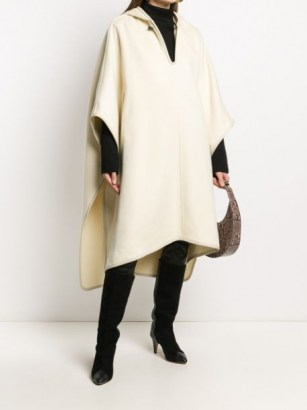 Isabel Marant oversize hooded cape | winter capes - flipped