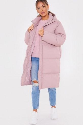 JAC JOSSA PINK LONGLINE PUFFER JACKET ~ padded winter coats - flipped