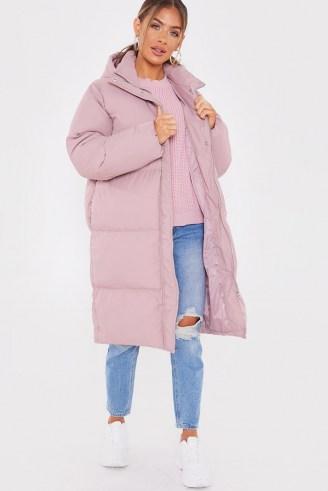 JAC JOSSA PINK LONGLINE PUFFER JACKET ~ padded winter coats