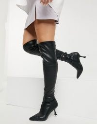 Kurt Geiger London Rocco over the knee boot in black ~ stud detail high boots