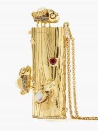 DANIELA VILLEGAS La Aventura diamond & opal 18kt gold lighter-case pendant necklace ~ statement necklaces ~ luxury gemstone pendants ~ fine jewellery