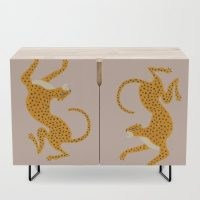 Leopard Race – pink Credenza by Megan Galante – just love this super styish design