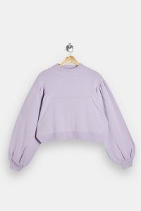 TOPSHOP Lilac Balloon Sleeve Knitted Sweatshirt Jumper