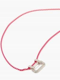 EÉRA Lucy diamond & 18kt white-gold necklace – vibrant pink necklaces – pendant necklaces – bright luxe jewellery