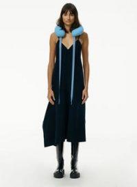 Tibi Luxe Double Faced Wool Angora Cami Dress ~ asymmetric hem slip dresses