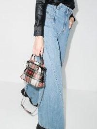 Maison Margiela 5AC tartan-check tote bag | small checked handbag