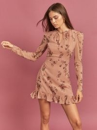 REFORMATION Marcy Dress ~ floral ruffle detail dresses