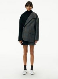 Tibi Mats Menswear Coating Liam Blazer ~ oversized asymmetric fastening jacket ~ drop shoulder blazers