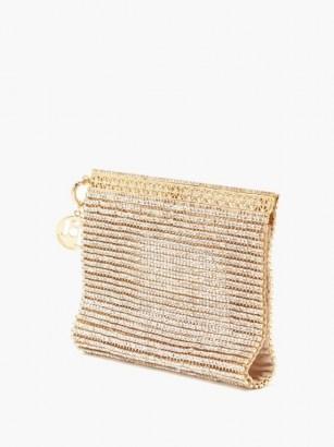 ROSANTICA Melissa crystal-embellished wristlet clutch bag / luxe evening wristlets / glamorous event bags - flipped