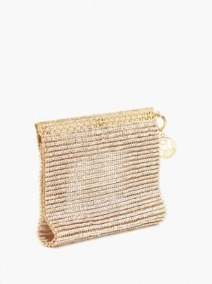 ROSANTICA Melissa crystal-embellished wristlet clutch bag / luxe evening wristlets / glamorous event bags