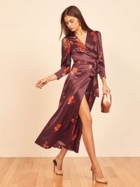 Reformation Merrick Dress | silk wrap dresses