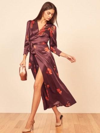 Reformation Merrick Dress | silk wrap dresses - flipped