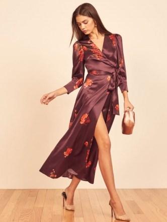 Reformation Merrick Dress | silk wrap dresses