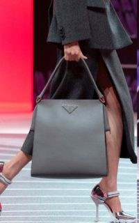Prada Metallic Leather Pumps / silver mary jane high heels