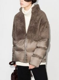 Moncler + Rick Owens Coyote faux-fur puffer jacket ~ padded winter jackets