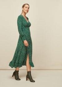 WHISTLES WILD LEOPARD PRINT MIDI DRESS / animal print dresses