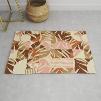 Nature with retro mosaic Rug by mmartaabc – bring the nature and the outside into your home with this stylish design