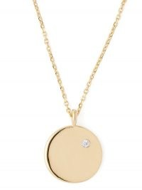 THEODORA WARRE O-charm gold-plated necklace / circular disc pendants / round pendant necklaces / jewellery