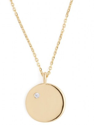 THEODORA WARRE O-charm gold-plated necklace / circular disc pendants / round pendant necklaces / jewellery - flipped