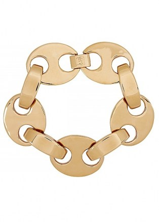 PACO RABANNE Eight gold-tone bracelet ~ chunky link bracelets ~ statement jewellery - flipped