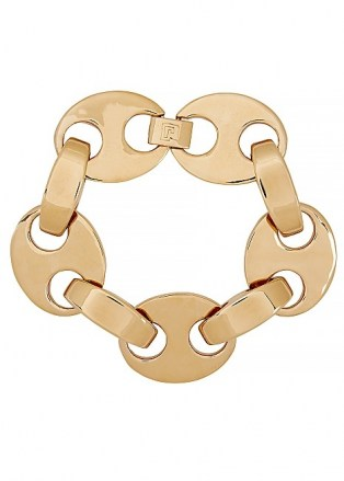 PACO RABANNE Eight gold-tone bracelet ~ chunky link bracelets ~ statement jewellery