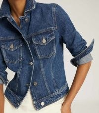 REISS PHILIPA DENIM JACKET MID BLUE ~ casual jackets