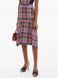 VIVIENNE WESTWOOD Phoenix mermaid-hem tartan wool skirt / checked skirts