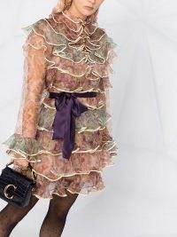 Zimmermann paisley print layered ruffle dress ~ tiered dresses ~ ruffles ~ frill detail