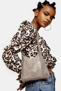 TOPSHOP Pink Diamante Shoulder Bag ~ glamorous bags ~ shimmering accessories