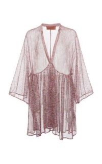 Missoni Mare Printed Knit Cover-Up Mini Dress – sheer metallic cover ups – poolside glamour