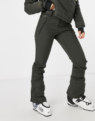 Protest Lole softshell ski pant in grey ~ winter sports clothing ~ ski pants ~ cold weather sportwear - flipped