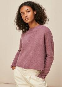 WHISTLES REVERSIBLE MERINO MIX CARDIGAN PURPLE/MULTI / cardigans / knitwear