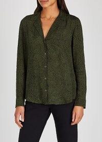 RAILS Rebel green printed shirt ~ speckle print shirts