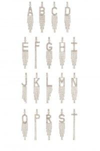 retrofete Alphabet Earring | single crystal initial earrings
