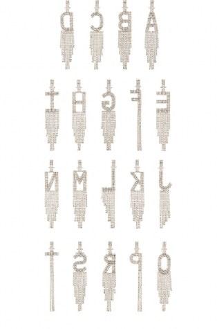 retrofete Alphabet Earring | single crystal initial earrings - flipped