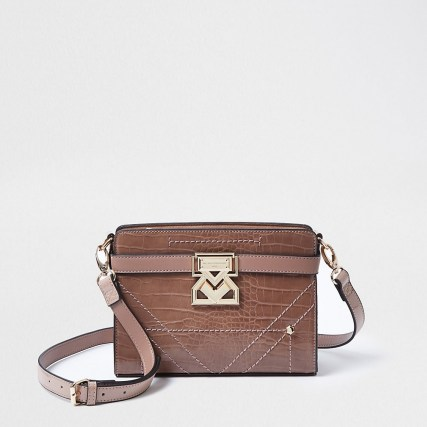 Rue Saint Dominique pink boxy handbag