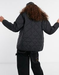 Santa Cruz Strip Liner jacket in black ~ casual quilted jackets