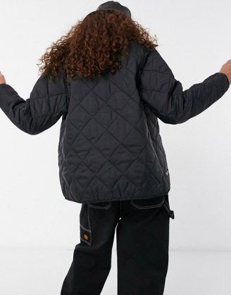 Santa Cruz Strip Liner jacket in black ~ casual quilted jackets - flipped