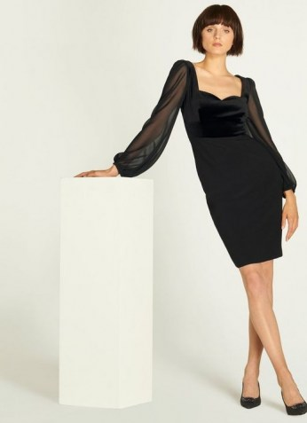 L.K. BENNETT SCARLETT BLACK COTTON DRESS / LBD / party wear / chic cocktail dresses - flipped
