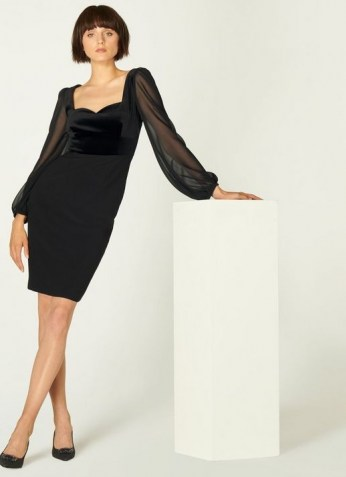 L.K. BENNETT SCARLETT BLACK COTTON DRESS / LBD / party wear / chic cocktail dresses