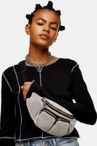 TOPSHOP Silver Diamante Bumbag ~ shiny belt bags ~ sparkling bumbags