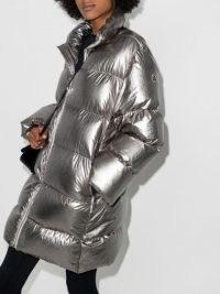Moncler + Rick Owens Cyclopic padded coat ~ metallic silver winter coats
